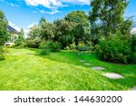 wooden benches in the garden | Shutterstock . vector #144630200