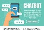 smartphone chatbot concept... | Shutterstock .eps vector #1446302933