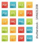 ai,avi,blue,doc,eps,extension,file,fla,flat,folder,format,gif,green,icon,img