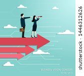 business vision and target ... | Shutterstock .eps vector #1446312626
