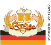 oktoberfest background with... | Shutterstock .eps vector #144631280