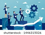 concept of teamwork in business ... | Shutterstock .eps vector #1446315026