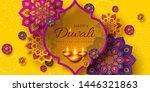 diwali festival of lights... | Shutterstock .eps vector #1446321863