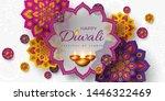 diwali festival of lights...   Shutterstock .eps vector #1446322469