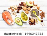 selection food sources of omega ... | Shutterstock . vector #1446343733