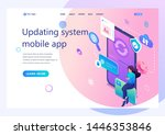 isometric concept update the... | Shutterstock .eps vector #1446353846