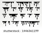 black dripping oil stain  sauce ...   Shutterstock .eps vector #1446361199