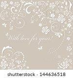 beautiful wedding card. raster... | Shutterstock . vector #144636518