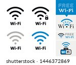 vector sign wi fi signal or... | Shutterstock .eps vector #1446372869