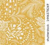 seamless vector floral pattern. ... | Shutterstock .eps vector #1446378269