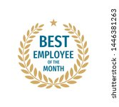 best employee of the month  ... | Shutterstock .eps vector #1446381263