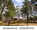 Pilot Lookout station in Sandhamn (Stockholm archipelago), a high tower used as viewpoint for the maritime pilots. Surrounded by pine forest.