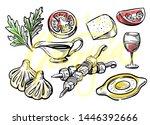 hand drawn georgian food menu... | Shutterstock .eps vector #1446392666