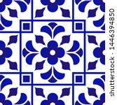 blue and white tile pattern ...   Shutterstock .eps vector #1446394850