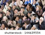 high angle view of many people... | Shutterstock . vector #144639554