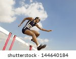 low angle view of a female... | Shutterstock . vector #144640184