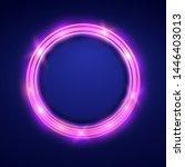 neon round frame .shining... | Shutterstock .eps vector #1446403013
