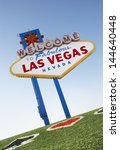 welcome to las vegas sign with... | Shutterstock . vector #144640448