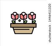 flower  growth  plant  spring ... | Shutterstock .eps vector #1446411320