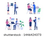 doctor and patient. can use for ... | Shutterstock .eps vector #1446424373