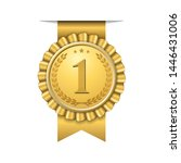 award ribbon gold icon number... | Shutterstock .eps vector #1446431006