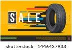 tire sale flyer. realistic... | Shutterstock .eps vector #1446437933