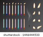 decorative birthday candles... | Shutterstock .eps vector #1446444533