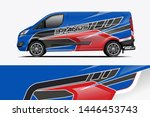 van wrap design. wrap  sticker... | Shutterstock .eps vector #1446453743
