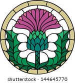 the thistle  the floral emblem... | Shutterstock .eps vector #144645770