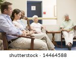 five people waiting in waiting... | Shutterstock . vector #14464588