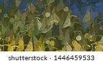 artistic sketch backdrop... | Shutterstock . vector #1446459533