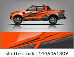 truck decal wrap design vector. ... | Shutterstock .eps vector #1446461309