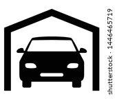 garage icon vector black icon