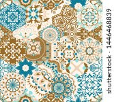 seamless colorful patchwork...   Shutterstock .eps vector #1446468839
