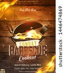 bbq party invitation template...   Shutterstock .eps vector #1446474869