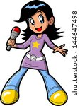 anime manga teen girl pop star... | Shutterstock .eps vector #144647498
