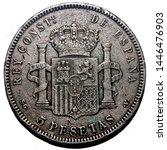 1899 spanish 5 peseta silver...   Shutterstock . vector #1446476903