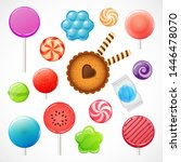 candy collection  vector set of ... | Shutterstock .eps vector #1446478070