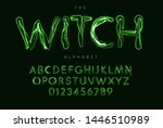 halloween letters and numbers... | Shutterstock .eps vector #1446510989