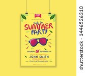 summer party poster or flayer...   Shutterstock .eps vector #1446526310