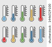percentage thermometer.... | Shutterstock . vector #1446529100