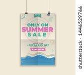 summer sale promotional poster...   Shutterstock .eps vector #1446529766