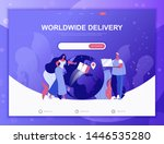 worldwide delivery flat concept ...