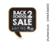 promotional banner back to... | Shutterstock .eps vector #1446536603