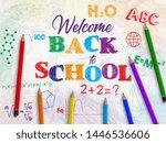 back to school banner. crumpled ... | Shutterstock .eps vector #1446536606
