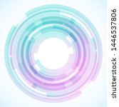 geometric frame from circles ... | Shutterstock .eps vector #1446537806