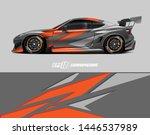car wrap decal design concept....   Shutterstock .eps vector #1446537989