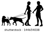 illustrated silhouettes of a... | Shutterstock . vector #144654038