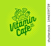 vitamin cafe logo. smoothie ... | Shutterstock .eps vector #1446559739