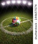 3d rendering of a soccer ball... | Shutterstock . vector #144657074